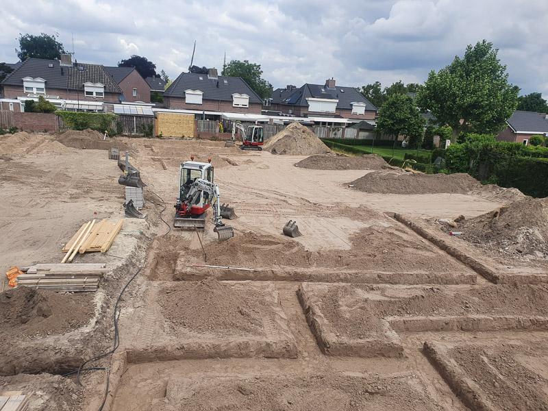 Fundering uitgraven - Someren (2)
